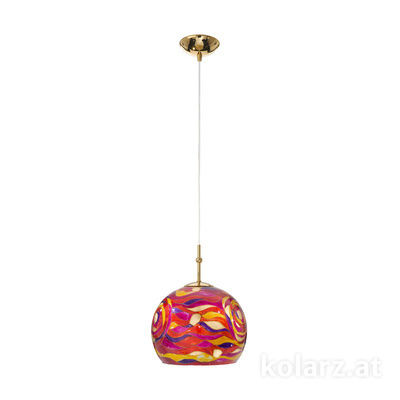 0392.31S.3.Aq.RV 24 Carat Gold, Ø20cm, Height 200cm, 1 light, E27