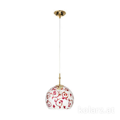 0392.31S.3.Tc.R 24 Carat Gold, Ø20cm, Height 200cm, 1 light, E27