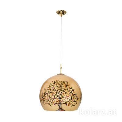 0392.31XL.3.Al.Mu 24 Carat Gold, Ø50cm, Height 200cm, 1 light, E27
