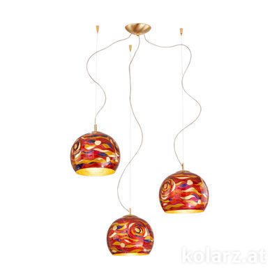 0392.33.3.Aq.RV 24 Carat Gold, Ø100cm, Height 200cm, 3 lights, E27