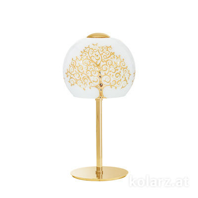 0392.71.3.Al.Go 24 Carat Gold, Ø20cm, Height 38cm, 1 light, E14
