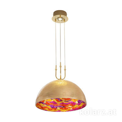 0395.31+1L.3.Aq.Rv 24 Carat Gold, Ø50cm, Max. height 200cm, 1+1 lights, E27+GU10
