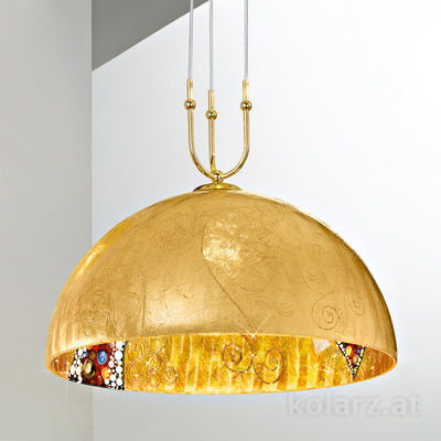 0395.31+1L.3.Ki.Au 24 Carat Gold, Ø50cm, Max. height 200cm, 1+1 lights, E27+GU10