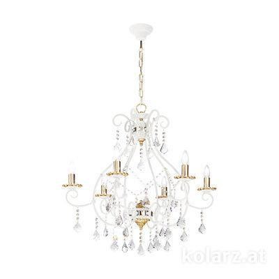 0397.86.3Iv.KpT 24 Carat Gold, Ø95cm, Height 90cm, Min. height 75cm, Max. height 130cm, 6 lights, E14