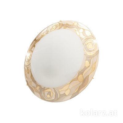 0415.U12.3.Ch 24 Carat Gold, Ø30cm, Height 8cm, 2 lights, E27