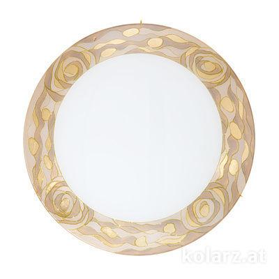 0415.U14.3.Ch 24 Carat Gold, Ø50cm, Height 10cm, 4 lights, E27