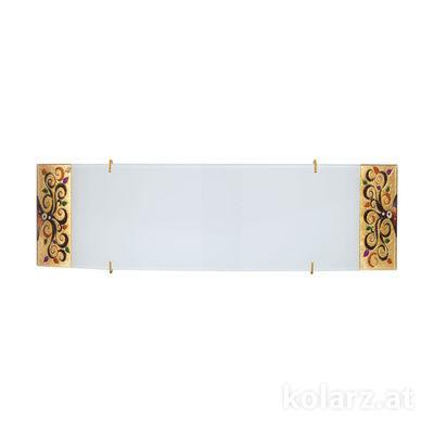 0417.61D.3.41.Mu 24 Carat Gold, Width 40cm, Height 11cm, 1 light, R7s 118mm