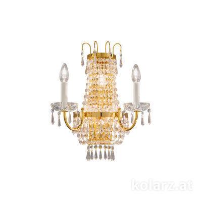 0418.62+3.3.SpT 24 Carat Gold, Width 40cm, Max. height 46cm, 5 lights, E14