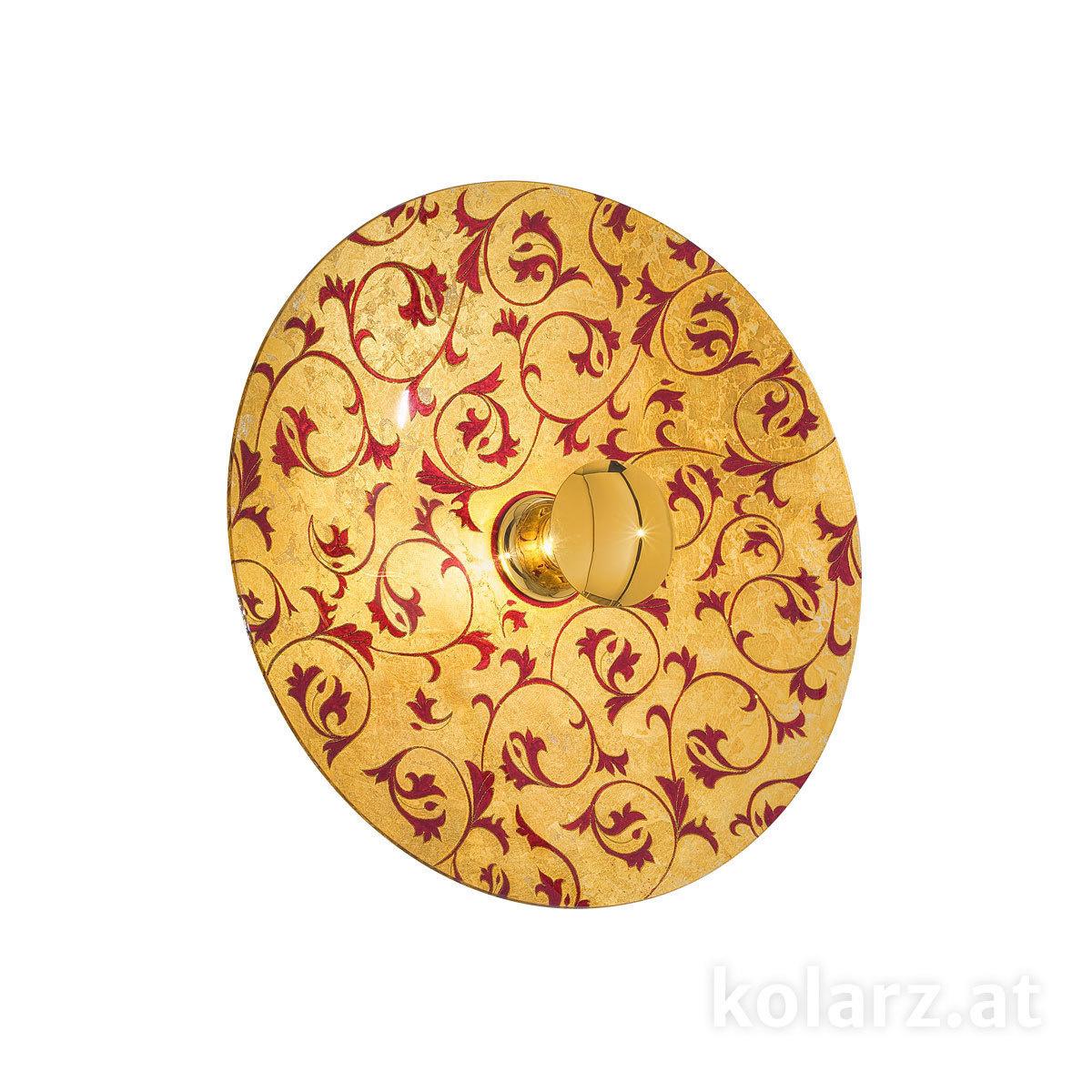 Applique Murale Luna Toscana Goldred ø8920 Or 24 Carats ø89cm
