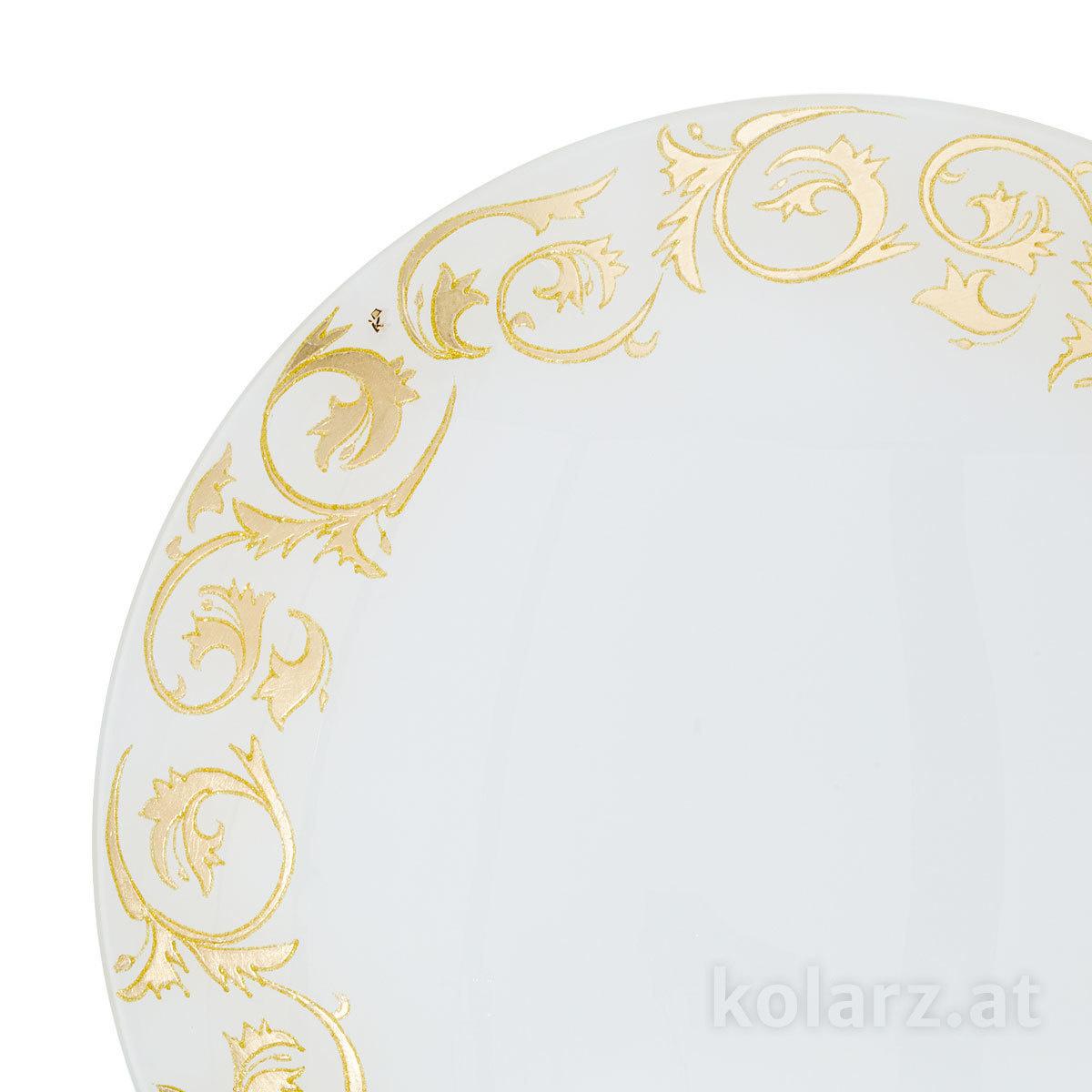 deckenleuchte serena toscana gold white 40 24 karat. Black Bedroom Furniture Sets. Home Design Ideas