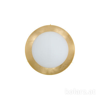0424.U12.3.Au 24 Carat Gold, Ø30cm, Height 8cm, 2 lights, E27