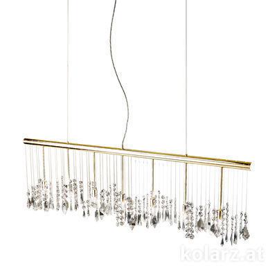 104.87.3.KoT 24 Carat Gold, Width 120cm, Height 44cm, Min. height 53cm, Max. height 250cm, 7 lights, G9