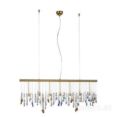 104.87.3.STR NEU 24 Carat Gold, Width 120cm, Height 44cm, Min. height 53cm, Max. height 250cm, 7 lights, G9