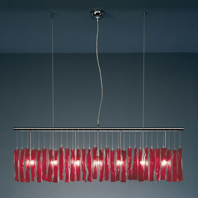 104.87.5.VSP05 Chrome, Red, Width 120cm, Height 44cm, Min. height 53cm, Max. height 250cm, 7 lights, G9