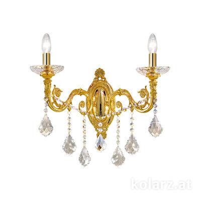 1299.62.3.SpT 24 Carat Gold, Width 48cm, Height 45cm, 2 lights, E14