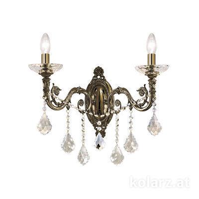 1299.62.4.SpT Antique Brass, Width 48cm, Height 45cm, 2 lights, E14