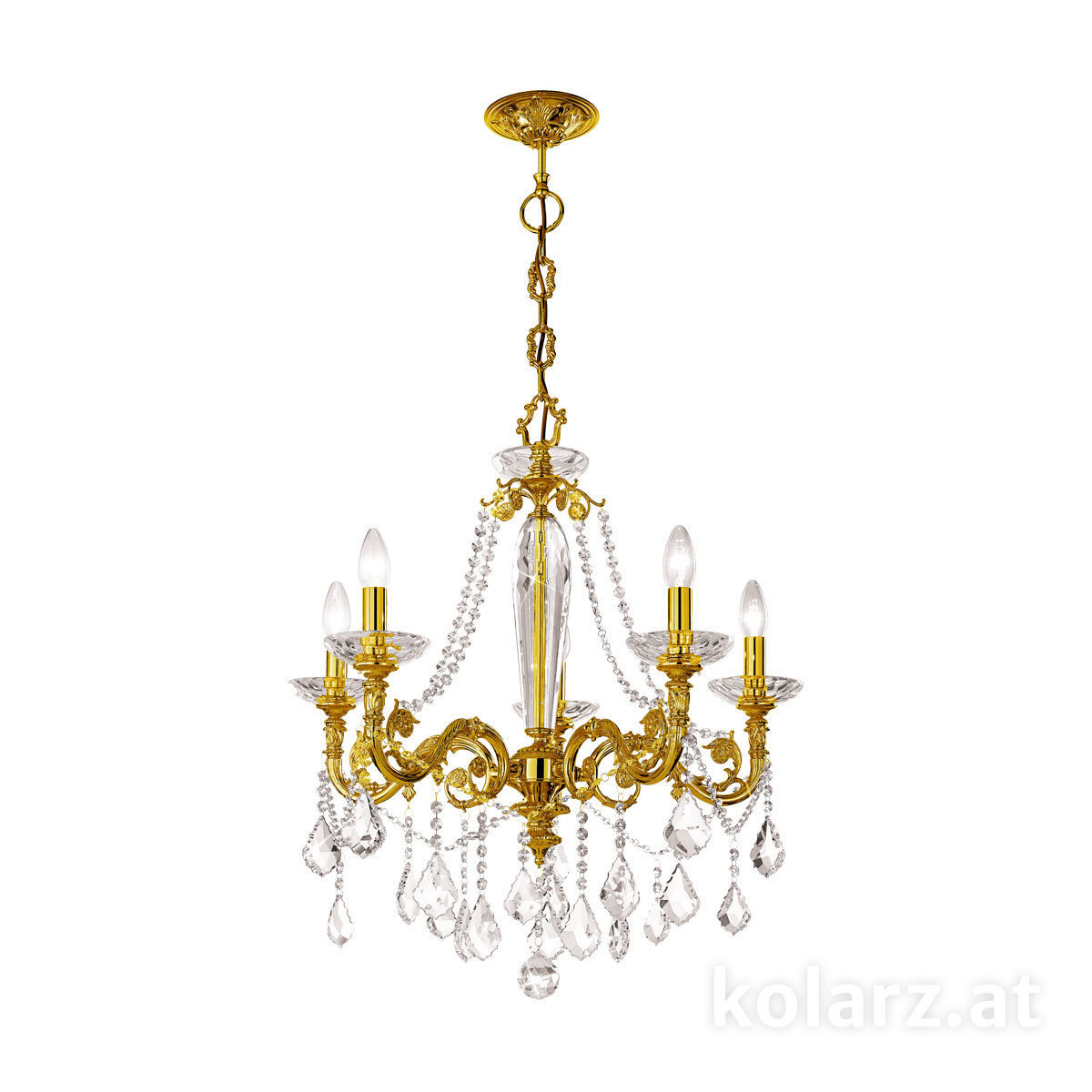 Chandelier contarini crystal french gold 65 5 lights french gold 1299 85 15 spt f1g arubaitofo Gallery