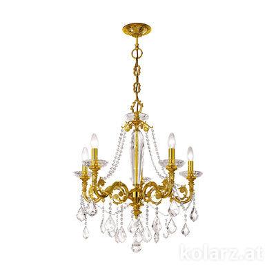 1299.85.15.SpT French Gold, Ø65cm, Height 70cm, Min. height 93cm, Max. height 138cm, 5 lights, E14