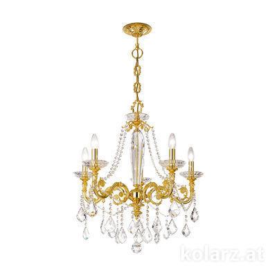 1299.85.3.SpT 24 Carat Gold, Ø65cm, Height 70cm, Min. height 93cm, Max. height 138cm, 5 lights, E14