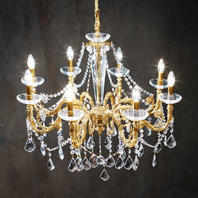 1299.88.15.SpT French Gold, Ø85cm, Height 76cm, Min. height 99cm, Max. height 144cm, 8 lights, E14