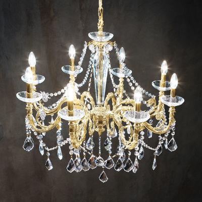 1299.88.3.SpT 24 Carat Gold, Ø85cm, Height 76cm, Min. height 99cm, Max. height 144cm, 8 lights, E14