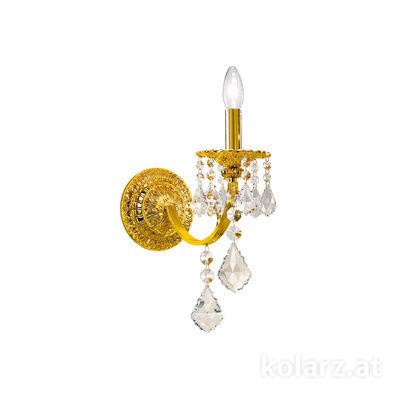 1301.61.3.SpT 24 Carat Gold, Width 14cm, Height 40cm, 1 light, E14