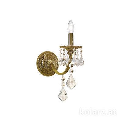 1301.61.4.SpT Antique Brass, Width 14cm, Height 40cm, 1 light, E14