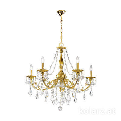 1301.85.15.SpT French Gold, Ø83cm, Height 80cm, Min. height 100cm, Max. height 150cm, 5 lights, E14