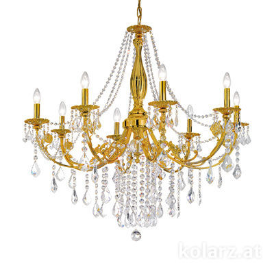 1301.88.15.SpT French Gold, Ø101cm, Height 100cm, Min. height 120cm, Max. height 180cm, 8 lights, E14