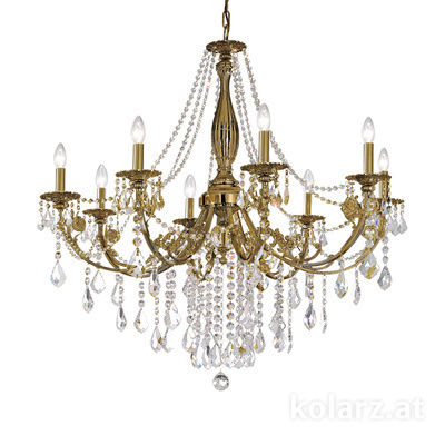 1301.88.4.SpT Antique Brass, Ø101cm, Height 100cm, Min. height 120cm, Max. height 180cm, 8 lights, E14