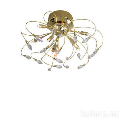 1307.19.3 24 Carat Gold, Ø50cm, Height 30cm, 9 lights, G9