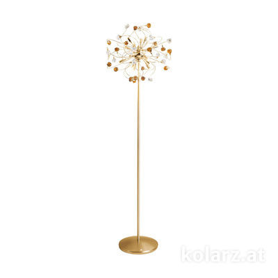 1307.412.3.VR02/04 24 Carat Gold, Ø50cm, Height 179cm, Max. height 179cm, 12 lights, G9