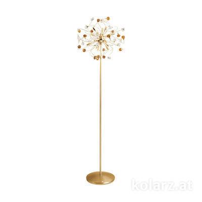 1307.412.3.VR02/04 24 Karat Gold, Ø50cm, Höhe 179cm, Max. Höhe 179cm, 12-flammig, G9