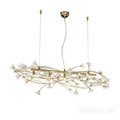 1307.85.3.R1W 24 Carat Gold, Length 110cm, Width 37cm, Height 34cm, Min. height 42cm, Max. height 250cm, 5 lights, G9