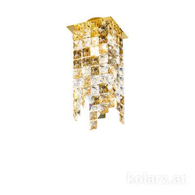 1314.11MQ.3.KpTGn 24 Carat Gold, Length 12cm, Width 12cm, Height 25cm, 1 light, G9