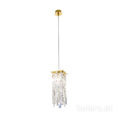 1314.31M.3.P1.KpT 24 Carat Gold, Length 12cm, Width 12cm, Max. height 85cm, 1 light, G9