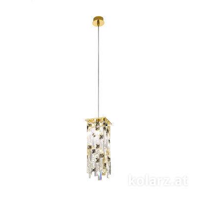 1314.31M.3.P1.KpTGn 24 Carat Gold, Length 12cm, Width 12cm, Max. height 85cm, 1 light, G9