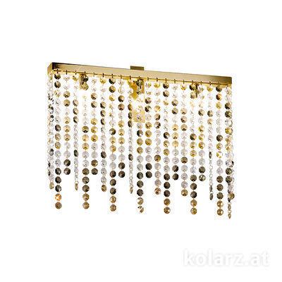 1314.63.3.O1.KpTGn 24 Carat Gold, Width 50cm, Height 40cm, 3 lights, G9