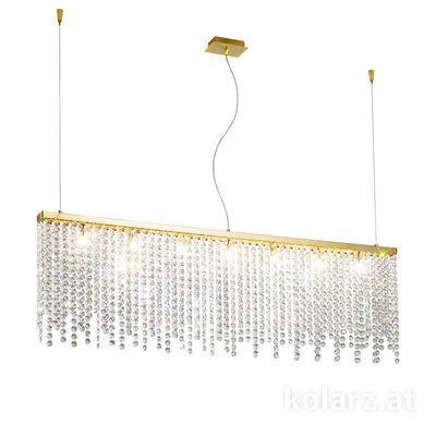 1314.87.3.O1.KpT 24 Carat Gold, Width 120cm, Height 39cm, Min. height 44cm, Max. height 250cm, 7 lights, G9