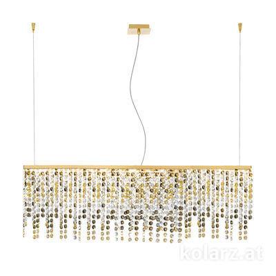 1314.87L.3.O1.KpTGn 24 Carat Gold, Length 120cm, Width 20cm, 7 lights, G9