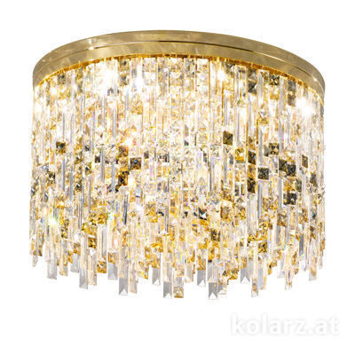 1344.112.3.P1.KpTGn 24 Carat Gold, Ø60cm, Height 40cm, 12 lights, G9