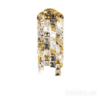 1344.11MQ.3.KpTGn 24 Carat Gold, Ø12cm, Height 25cm, 1 light, G9