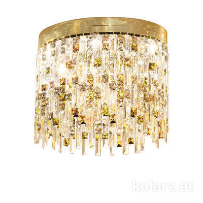 1344.16.3.P1.KpTGn 24 Carat Gold, Ø45cm, Height 40cm, 6 lights, G9