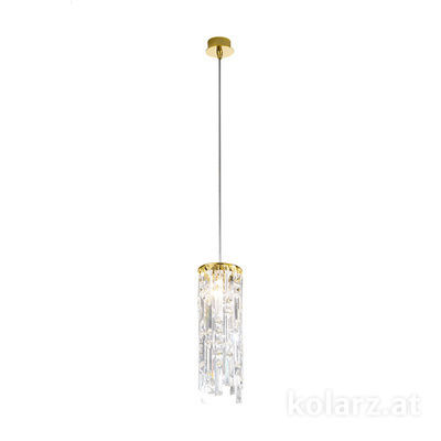 1344.31M.3.P1.KpT 24 Carat Gold, Ø12cm, Max. height 85cm, 1 light, G9
