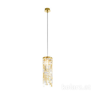 1344.31M.3.P1.KpTGn 24 Carat Gold, Ø12cm, Max. height 85cm, 1 light, G9