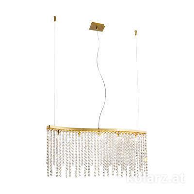 1344.85.3.O1.KpT 24 Carat Gold, Length 80cm, Height 39cm, Min. height 44cm, Max. height 250cm, 5 lights, G9