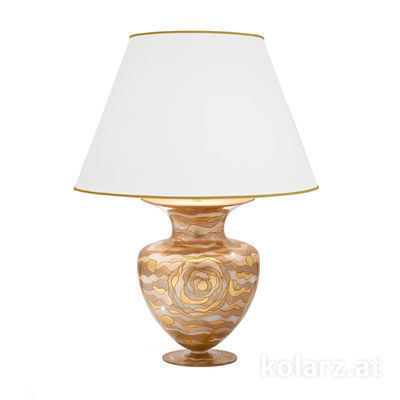 1415.71L.Ch 24 Karat Gold, Ø55cm, Höhe 90cm, 1-flammig, E27