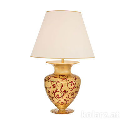 1420.71L.R 24 Carat Gold, Ø55cm, Height 90cm, 1 light, E27