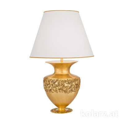 1423.71L.GA 24 Carat Gold, Silver, Ø55cm, Height 90cm, 1 light, E27