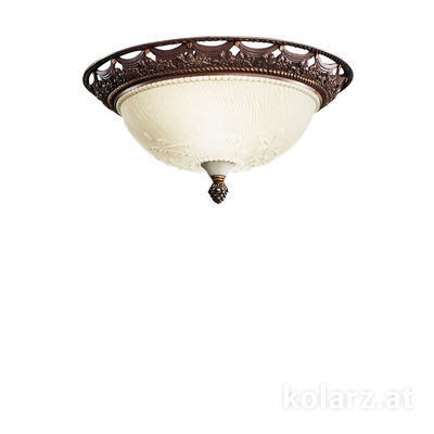 204.12 Brown, Ø33cm, Height 14cm, 2 lights, E27
